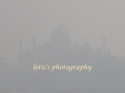 taj mahal view from the fort