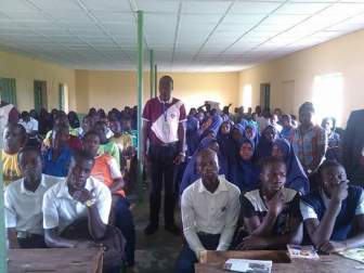 Students of Nawairu deen, secondary school, Offa, Ilorin Kwara State. During the 16 Local government Secondary school career guidance and capacity building tour trip to Offa