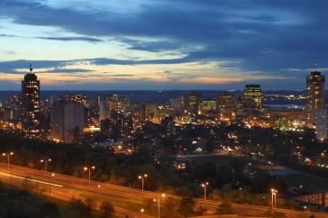City of Hamilton at night