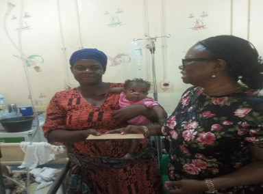 Dr. Mrs. Odeka and P-TAP benefitiary's Mother at ICU Asokoro Hospital