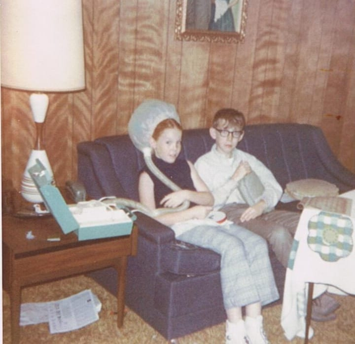 1970ish-guilty-looks-kevin-was-hiding-candy-under-pillow-house-where-cousins-visited