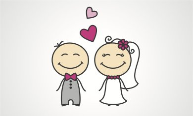 Newly-Married-Couple-Cartoon-Marriage-Wishes-Picture
