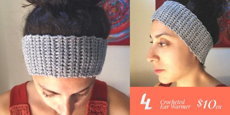 crocheted head warmer