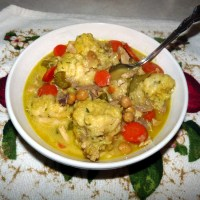 Curried Chicken and Dumplings [Carla Hall!}