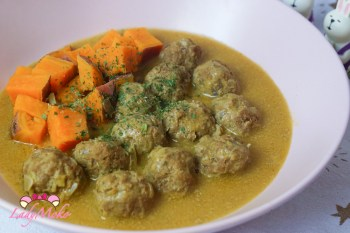 低醣飲食料理食譜 椰奶咖哩低脂牛肉丸Coconut Curry Low-fat Meatballs(超好吃低脂純牛肉丸食譜)