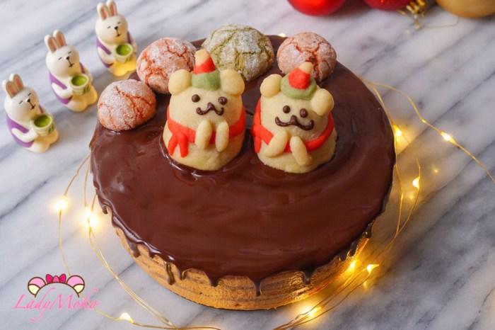 法式海鹽焦糖巧克力慕斯蛋糕食譜 類似歐貝拉Opéra作法/Bavaroise au Chocolat+Mousse au Caramel+Croustillant+Glaçage