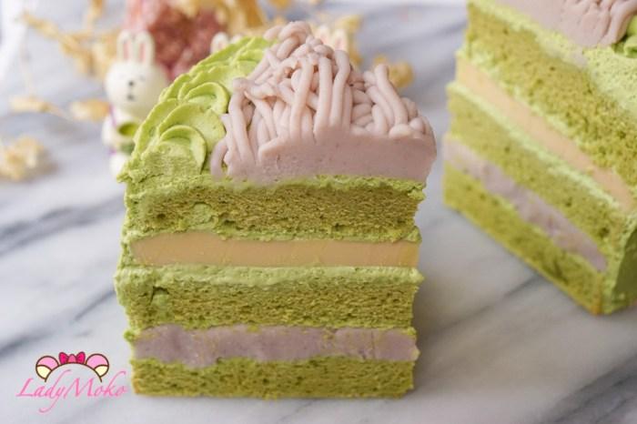 芋泥布丁抹茶蛋糕食譜 布丁夾餡食譜+抹茶戚風蛋糕食譜