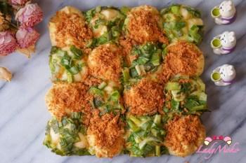 16宮格手撕肉鬆蔥麵包 生吐司食譜應用,肉鬆蔥麵包兩個願望一次滿足