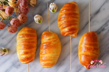 偽炸熱狗香腸造型麵包(免炸烤箱版)|生吐司食譜應用