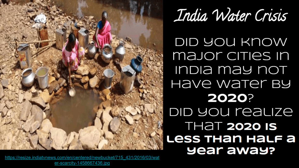 India water crissi 2020 ig quest