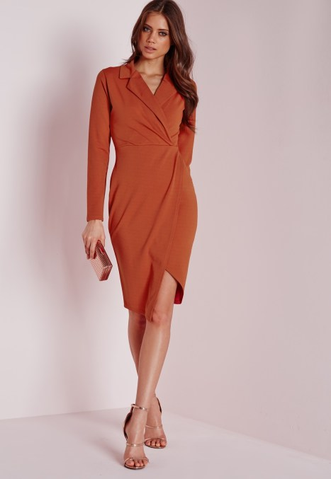wrap dress rust Mis guideded €28.00