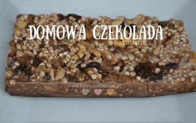 Domowa czekolada z bakaliami (naturalna, zdrowa i łatwa w przygotowaniu)