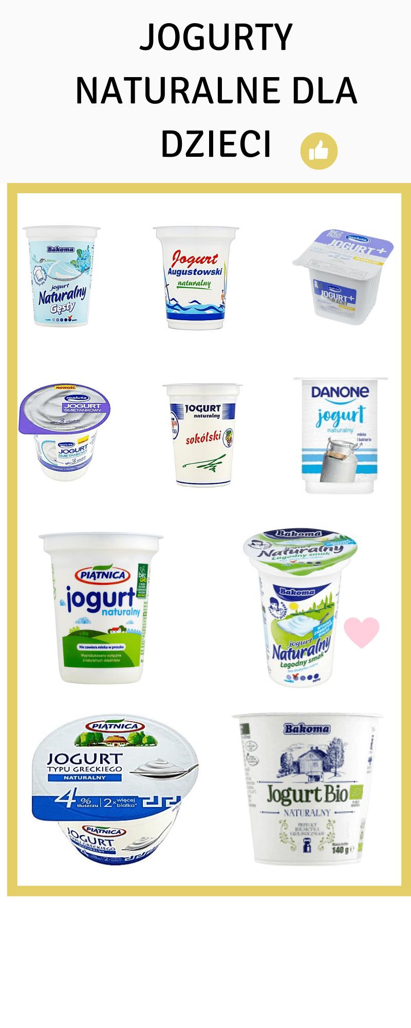 jogurty dla dzieci