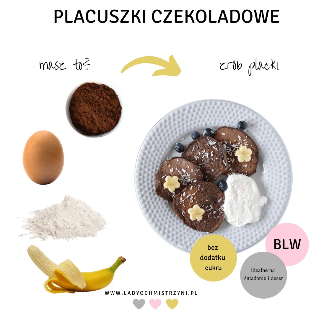 placuszki czekoladowe BLW