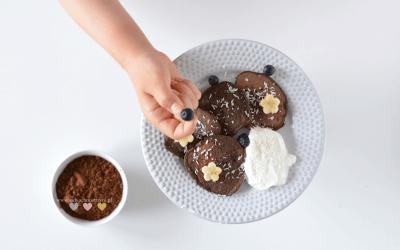 Placuszki czekoladowe dla dzieci BLW