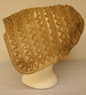 Detail of Woven Horsehair and Straw Bonnet, Ca 1805-1820, Litchfield Historical Society