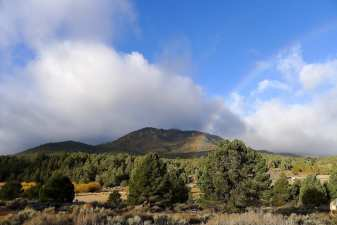 Rainbow over Chimney Peak
