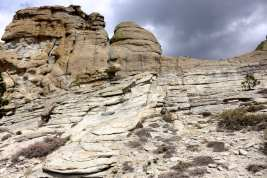 View of correct western route up Taylor Dome