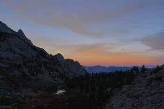 Sunset over Lower Boy Scout Lake