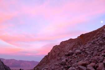 Sunset over Owens Valley