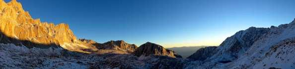 Sunrise over Trail Camp and Owens Valley