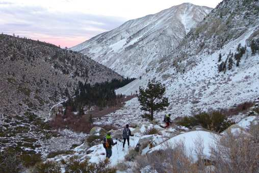 Sunset -North Fork Big PIne Creek Trail