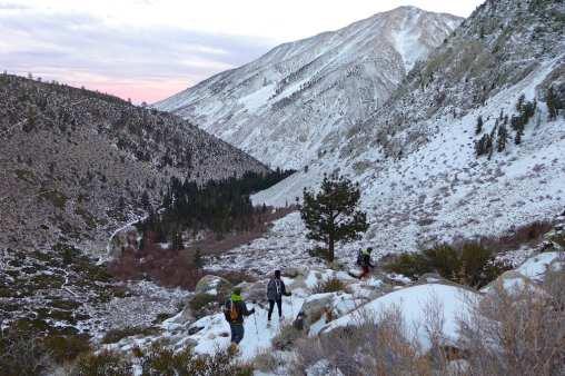 Sunset -North Fork Big PIne Creek Trail