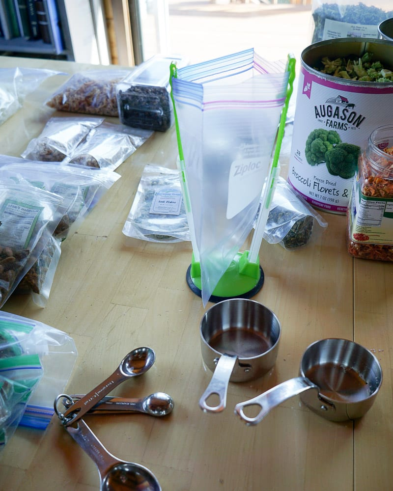Backpacking Dinner assembly tools