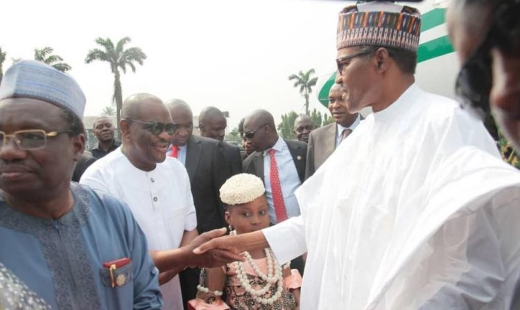 Governor Nyesom Wike Welcomes Buhari in Port Harcourt 2