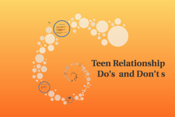 Do's and Don't in a teenage relationship