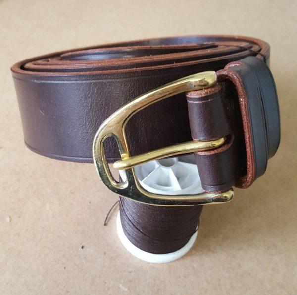 Brass Stirrup Buckle and Australian Nut Leather Belt