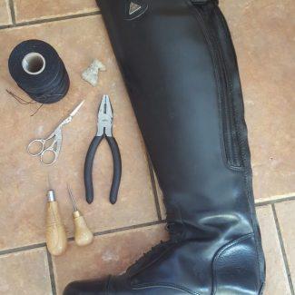 Leather boot repair