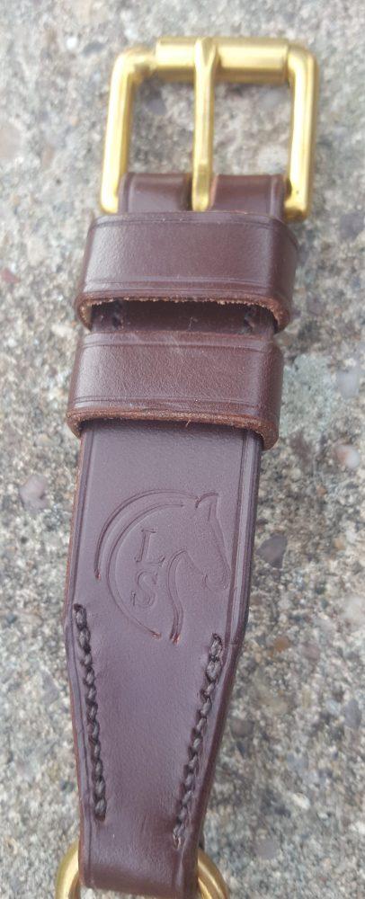 Flat Leather Half Choke Dog Collar