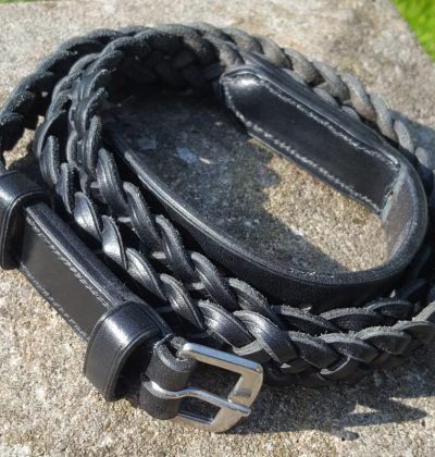 Black Sedgwick Bridle Leather Plaited Neck Strap