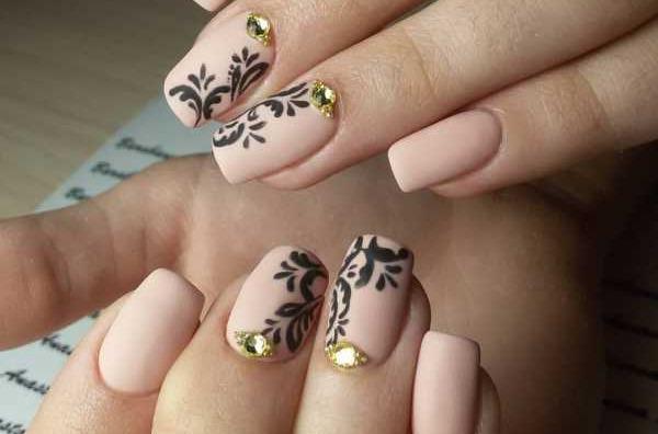 матовые ногти дизайн 5