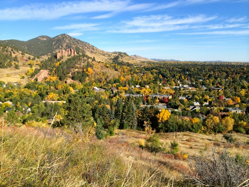 Viewpoint trail in Boulder, Colorado
