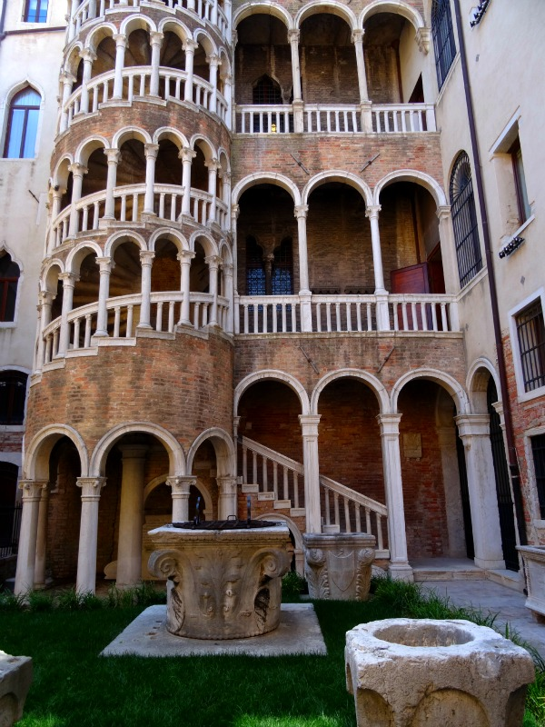 spiral staircase in Venice