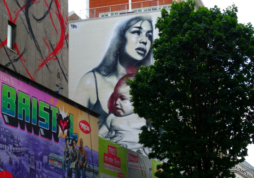 Woman and Child street art