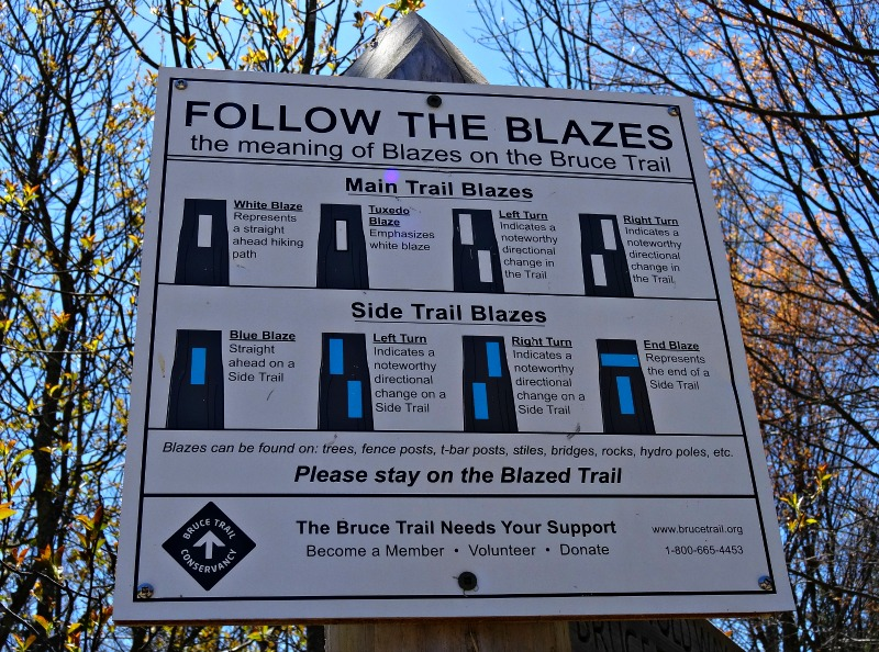 Trail Blaze sign