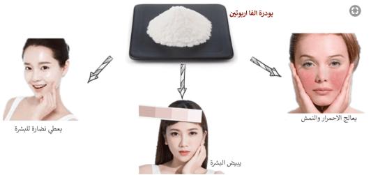 فوائد استخدام بودرة الفا اربوتين