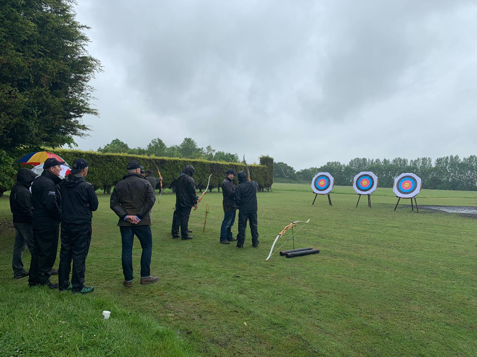 Archery corporate entertainment event at Lady's Wood Shooting School