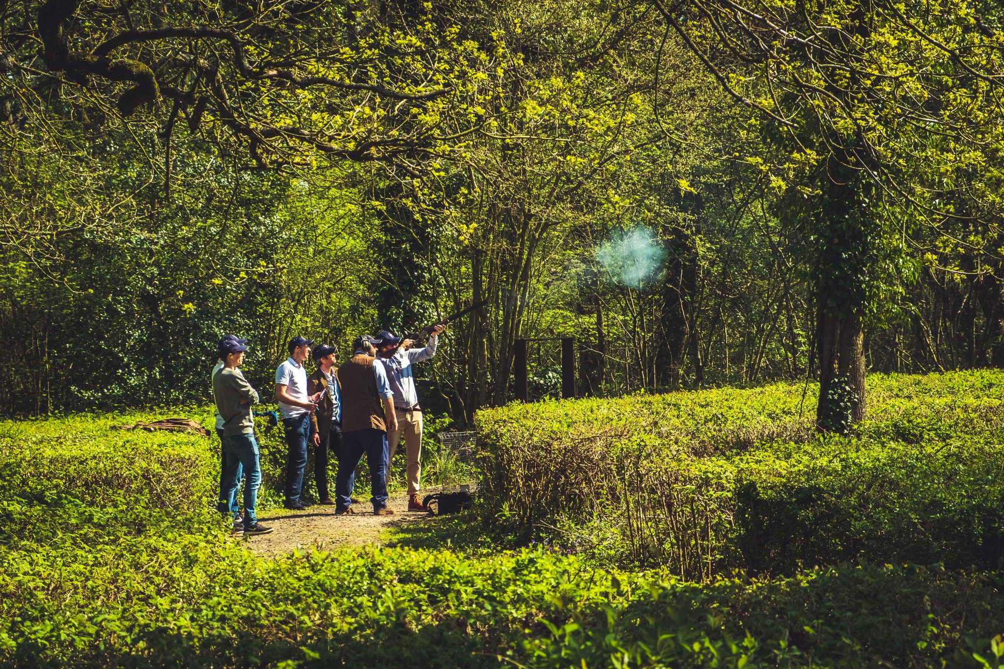 Stag party clay pigeon shooting at Lady's Wood Shooting School