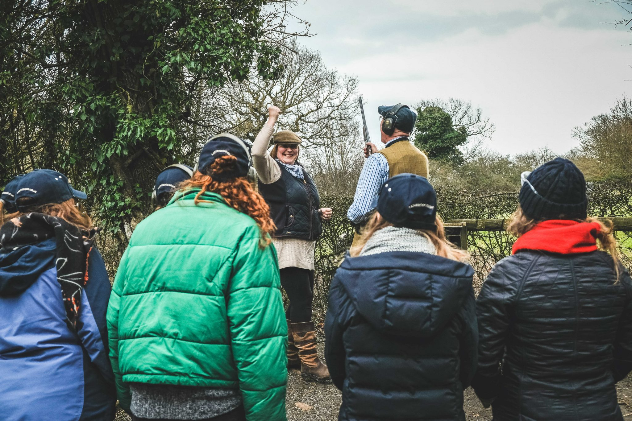 Hen party clay pigeon shooting at Lady's Wood Shooting School