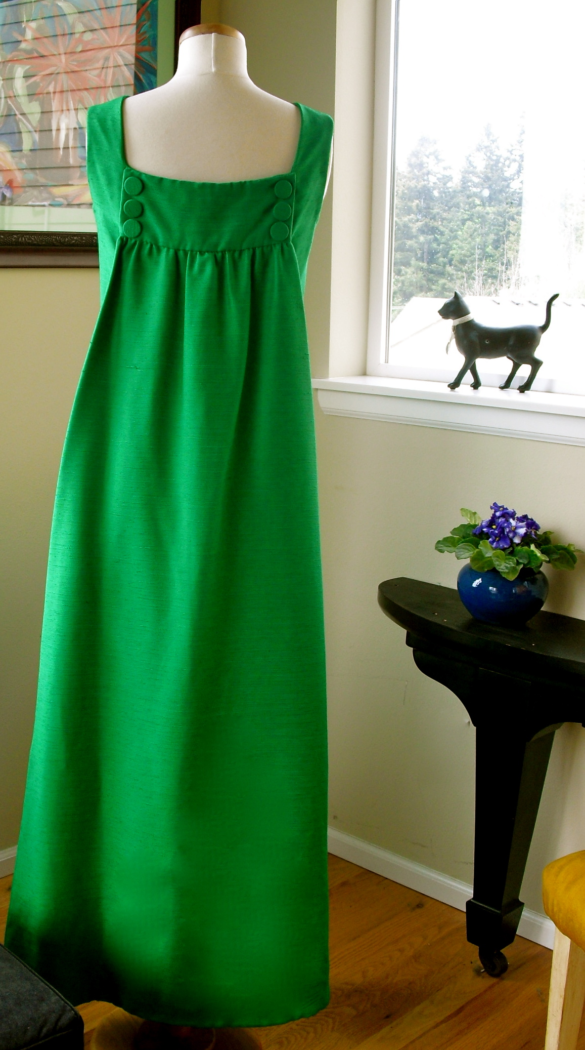 An Amazing Kelly Green Ball Gown From Emma Domb Circa 1960