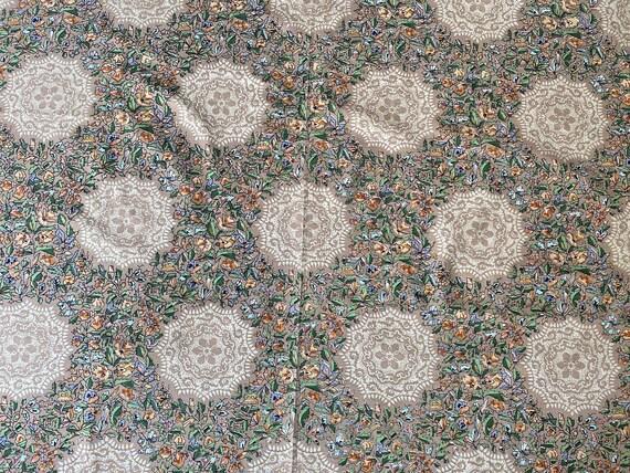 Vintage silk upholstery fabric