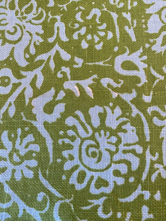 """Vintage 1960s Eaglesham """"Resist"""" Chartreuse Fabric"""