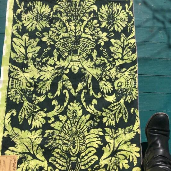 Vintage 1960s Scalamandré Tela Batik Fabric Sample