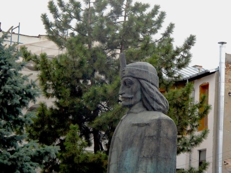 Statue of Dracula in the Old town