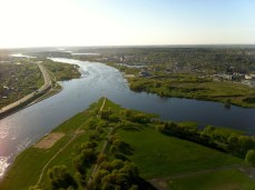 Confluence of Nemunas and Neris rivers from hot air balloon (Photos by Gintarė Ada)