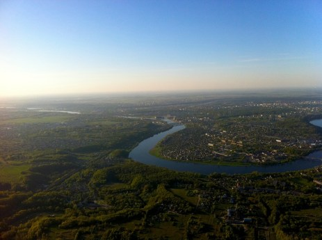 Lithuanian city Kaunas and its surroundings from hot air balloon (Photos by Gintarė Ada)